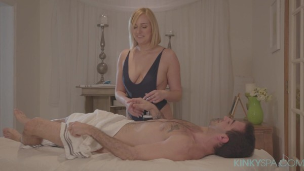Kate England gives a happy ending massage