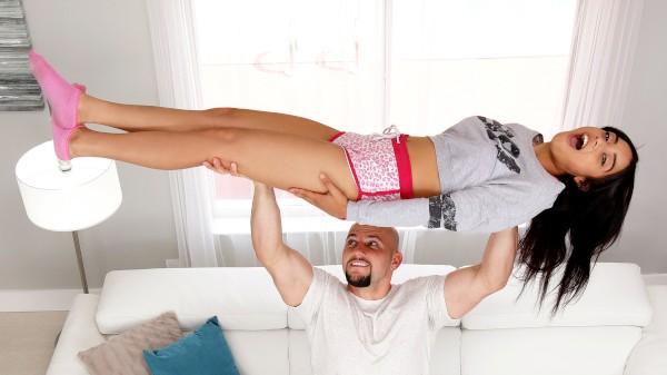 Watch Maya Bijou in Petite Latina Stretched Out