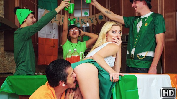 Pounded On St Pattys with Bambino, Riley Star at teenslovehugecocks.com