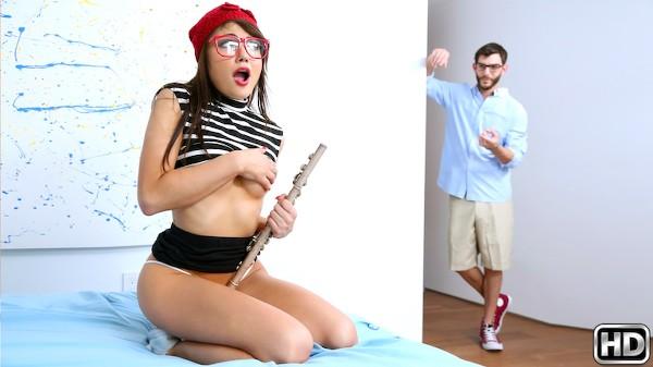 Pussy Treat with Logan Long, Adria Rae at teenslovehugecocks.com