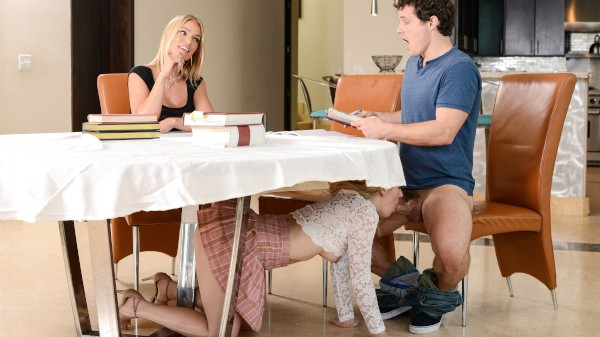 My Stepmom Ruined The Study Session with Robby Echo, Rachael Cavalli, Abby Adams at momsbangteens.com