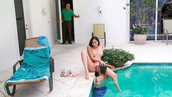 Fooled By The Pool with Tyler Steel, Ariana Marie at sneakysex.com