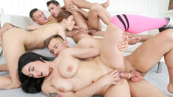 The More the Merrier Scene 1 Bisexual Orgy on Bi Empire with Emily Hamilton