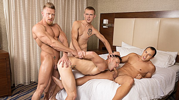Watch Zane Anders, Leon Lewis, Brenner Bolton in He Likes It Rough & Raw Volume 2 Part #4, Scene 1