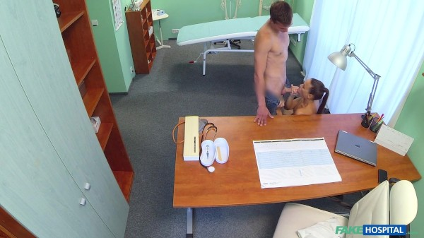 Sexy nurse makes doctors son cum twice ft Marcus Darren - FakeHub.com