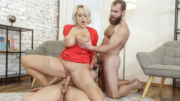 Angel Surprise! Bisexual Orgy on Bi Empire with Angel Wicky