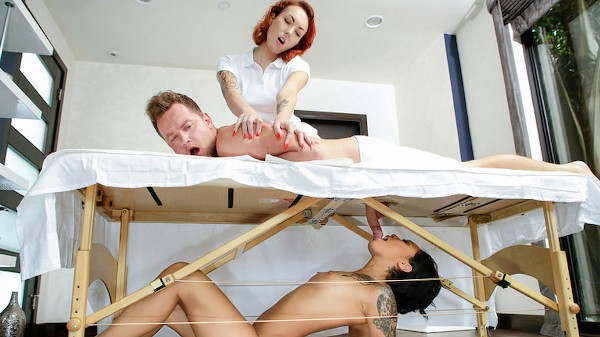Massage Revenge Fuck with Van Wylde, Honey Gold at sneakysex.com