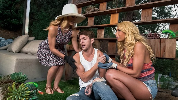 Help Around The Garden with Markus Dupree, Cherie Deville, Carmen Caliente at momsbangteens.com