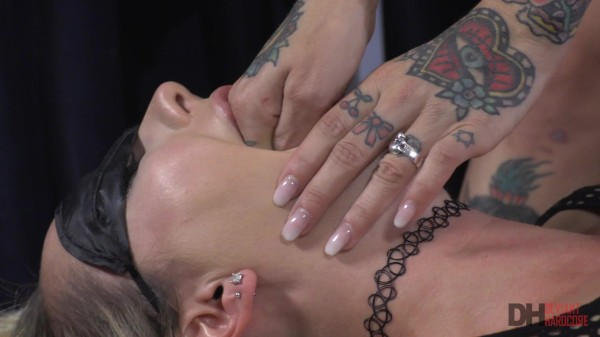 Tattooed Joanna Angel dominates blonde babe Brett Rossi