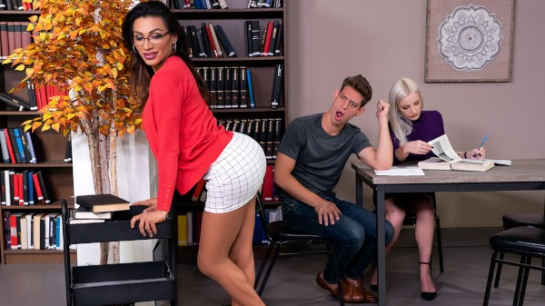Watch Stroke Her in the Stacks featuring Jessy Dubai, Michael DelRay Transgender Porn