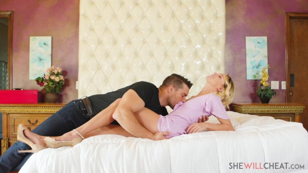 Cute blonde wife Emma Hix fucks a handsome Spaniard while her hubby is gone