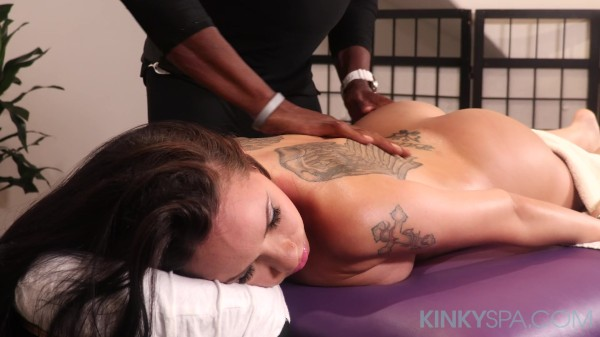 Petite Raven Bay fits masseurs BBC in her tight pussy