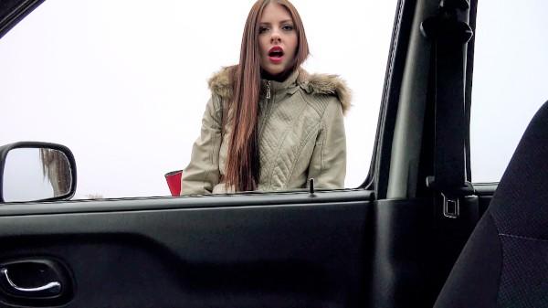 Watch Rebecca Volpetti, Frank Gun in Hitchhiker Gives Blowjob In Car