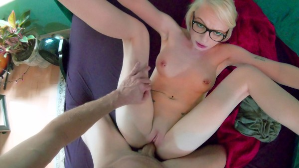 Blonde Glasses Likes it Rough