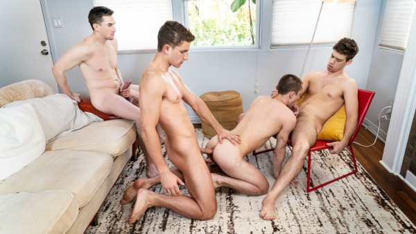 Three Brothers Part 3: Bareback - Michael DelRay, Jack Hunter, Theo Brady, Zane Williams