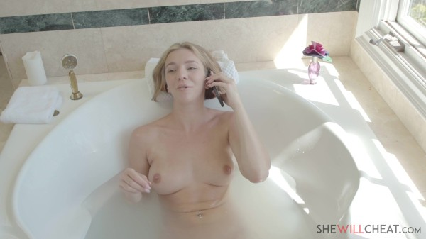 Young blonde wife Tiffany Watson fucks her husbands big cock assistant