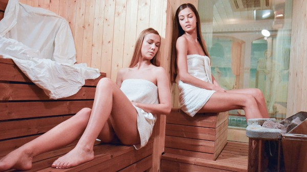 Watch Alexis Crystal, Cindy Shine in Czech girls hot sauna oral orgasms