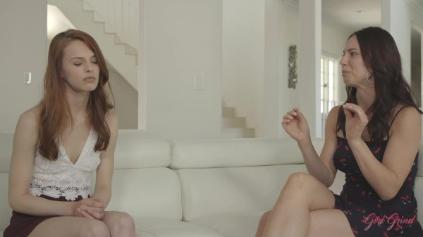 """Aidra Fox comforts her redhead roommate Jillian Janson with her amazing body after a bad breakup"