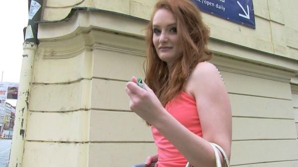 Watch Denisa Heaven in Redhead Gets A Full Creampie In A Parking Garage
