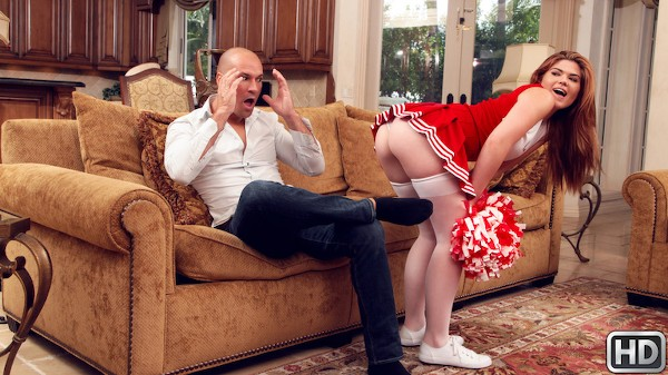 My Stepdaughter The Cheerleader with Sean Lawless, Hunter Rose at teenslovehugecocks.com