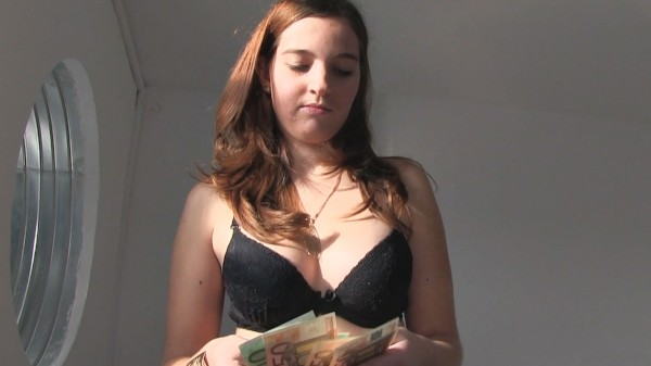 Watch Brook Azur in Redhead Is Shy to Get Nude for Cash