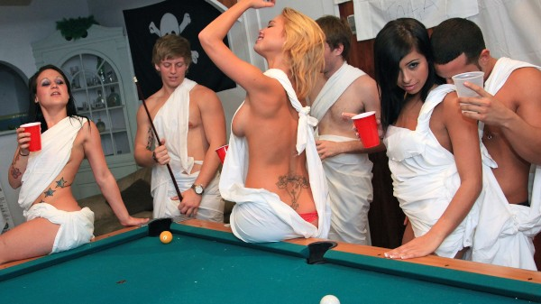 Watch Victoria White, Krystal Star, Ava Jay in Party with the Frat Pack