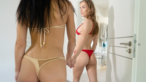 Watch Aislin, Kate Rich in Sexy girlfriends get wet and horny