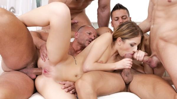4 On 1 Gang Bangs #12 Scene 3 Reality Porn DVD and Orgies on DogHouseDigital with Angelo Godshack