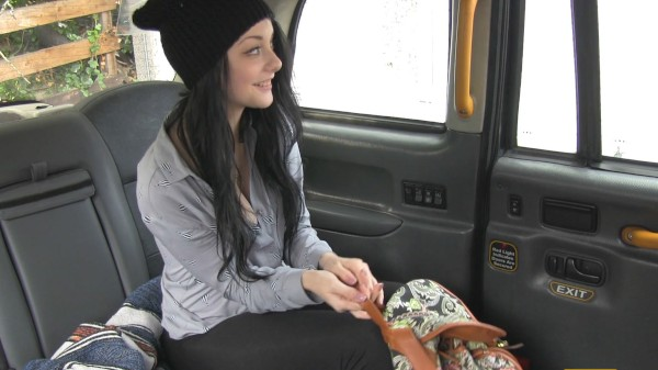 Watch Alessa Savage in Take Two for Hot Brunette in Cab
